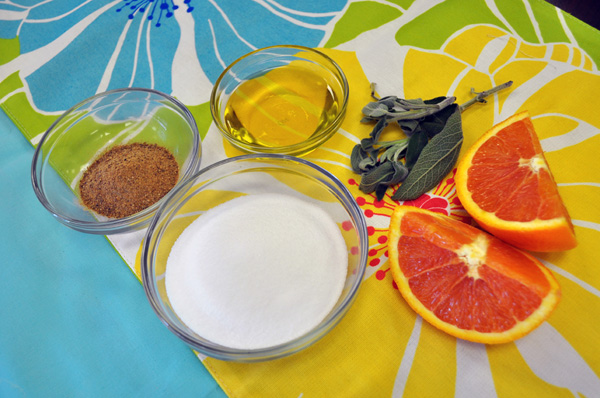 sage and grapefruit body scrub