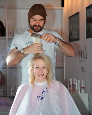 Aly Walansky at the Dover Hair Salon