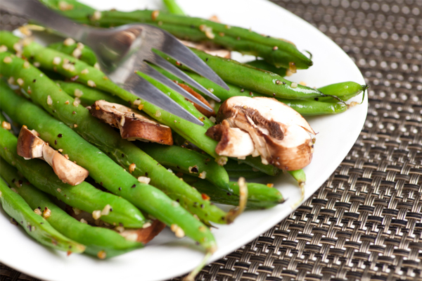 Green beens with mushrooms