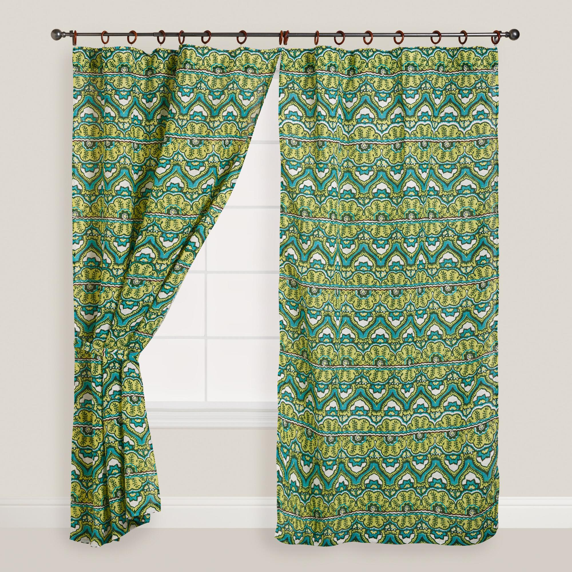 Green Bohemian Curtains from World Market
