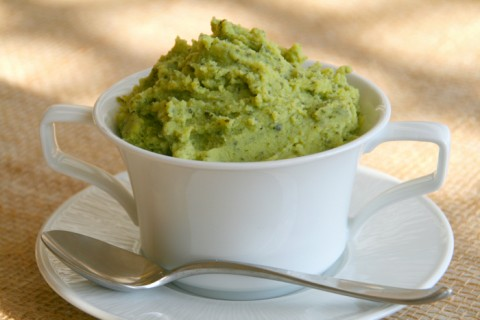 green spinach mashed potatoes