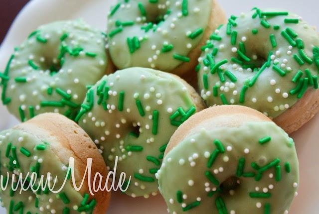st. patrick's day mini-donuts