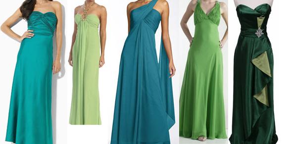 green prom dress, prom trends 2001, prom fashion