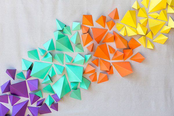 Colorful 3D geometric art
