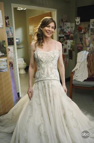 Ellen Pompeo looks the glowing bride on Grey's Anatomy