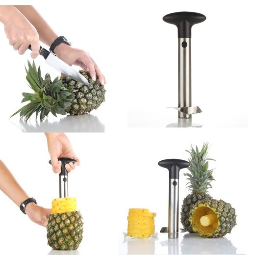 Silver Stainless Steel Pineapple De-Corer