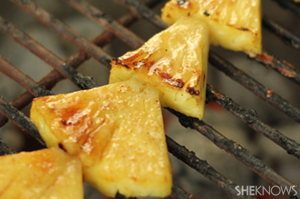 Grilled pineapple shortcake