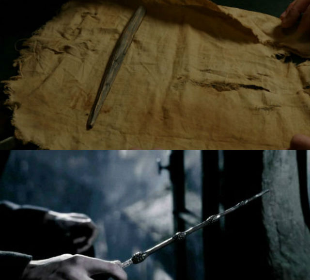 Grimm's stick and Harry Potter's elder wand