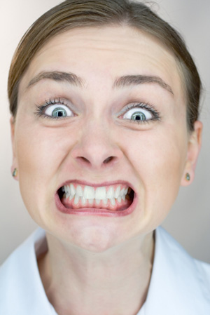 Woman Grinding Teeth