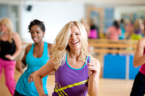 Group fitness dance class