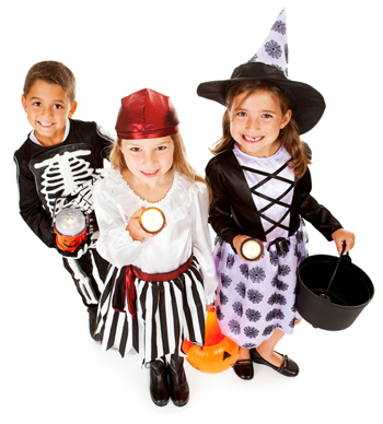 Group of Trick or Treaters