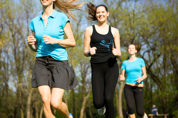 Group of woman running