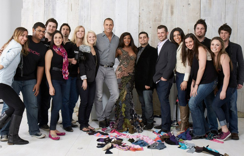 SheKnows team, Nigel Barker, Toni Braxton & Michael Costello