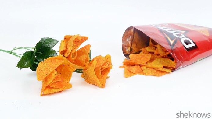 DIY Doritos bouquet: The Valentine's Day