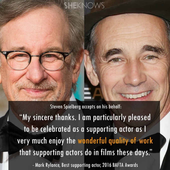 Stephen Spielberg and Mark Rylance