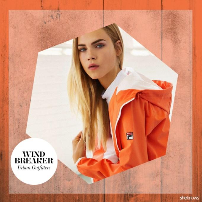 Orange fall jacket