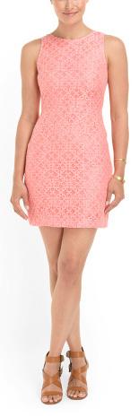 Shop the look: BLU-39 Cotton Blend Lace Dress (tjmaxx.com, $25)