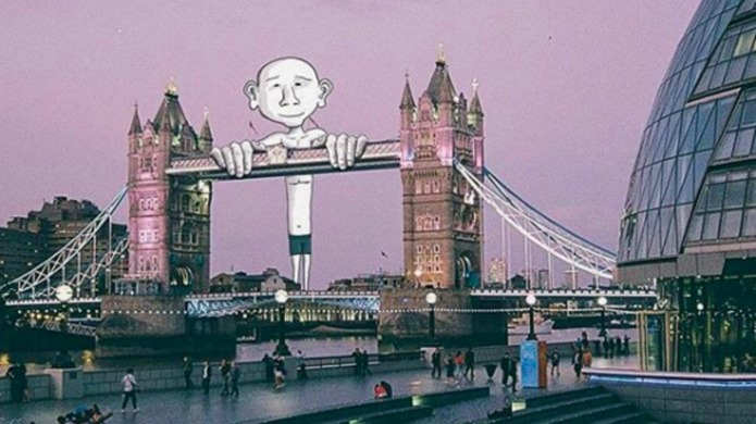 Artist transforms famous landmarks into something