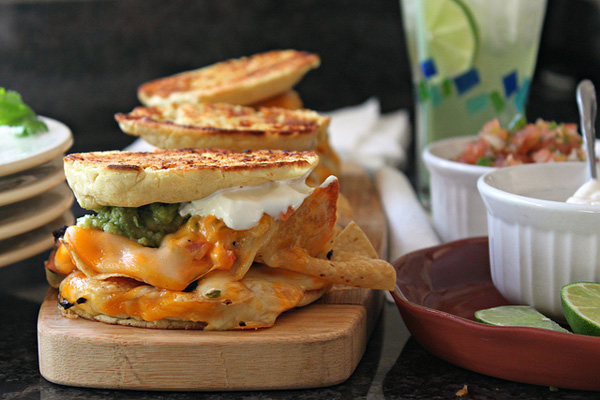 Ultimate nacho grilled cheese