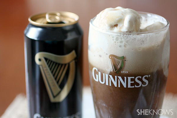 Guinness stout ice cream float