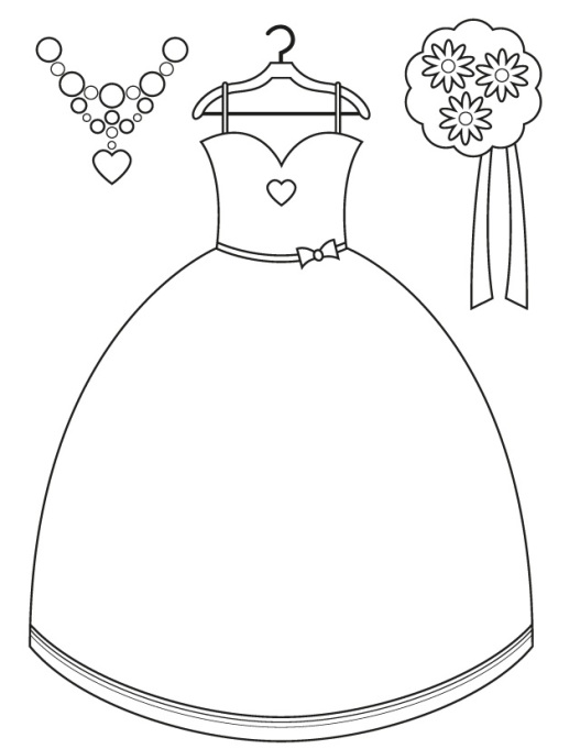 Free wedding coloring printables for kids