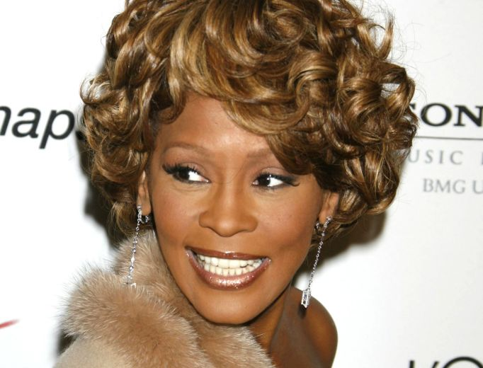 Whitney Houston on red carpet