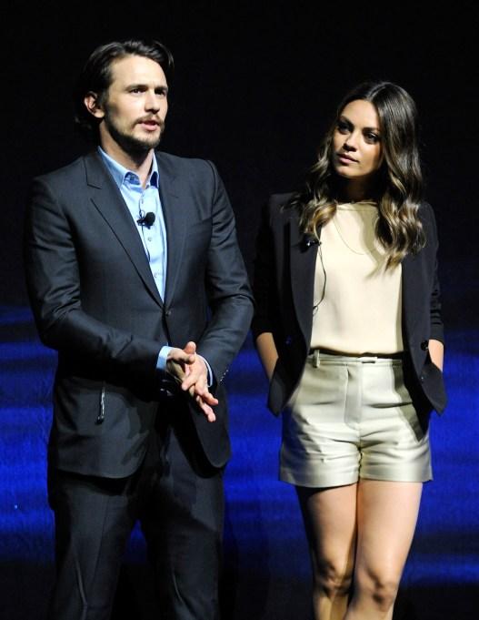 Mila Kunis and James Franco 2012