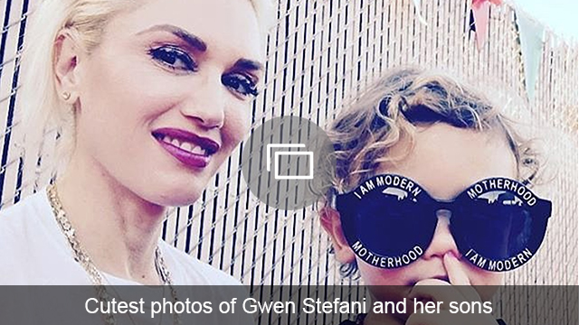 Gwen Stefani and sons slideshow