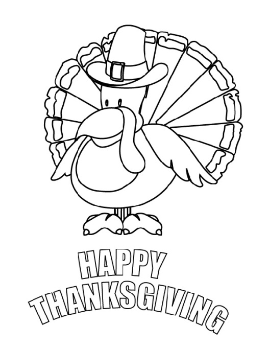 Free Thanksgiving-Themed Coloring Pages for Kids: Turkey