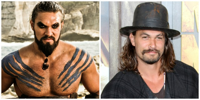 These 'Game of Thrones' characters look totally different in real life: Khal Drogo vs. Jason Momoa