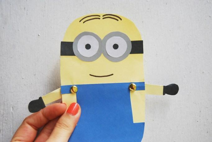 Minion Dave paper doll