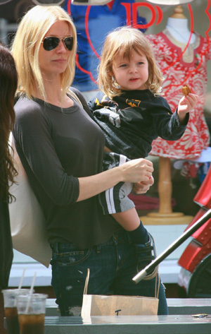 Gwyneth Paltrow and her son Moses