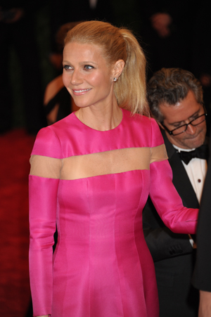 Gwyneth Paltrow in pink Valentino