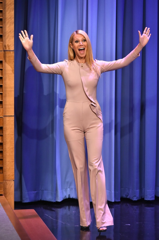 Gwyneth Paltrow pantsuit on The Tonight Show
