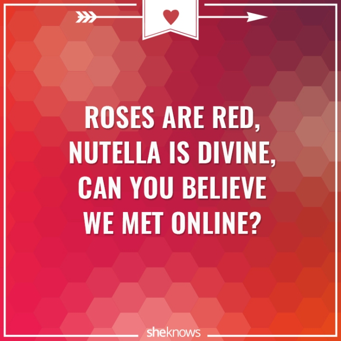 Funny Valentine's Day poem about Nutella