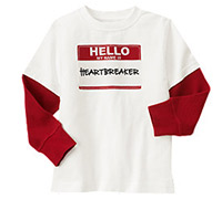 gymboree heart breaker tee