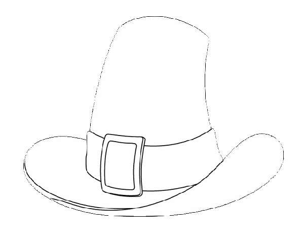 Free Thanksgiving-Themed Coloring Pages for Kids: Pilgrim's Hat