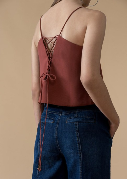 Best Lightweight Summer Tops For The Summer: Genuine People Laced-Up Crop Top | Summer Fashion 2017