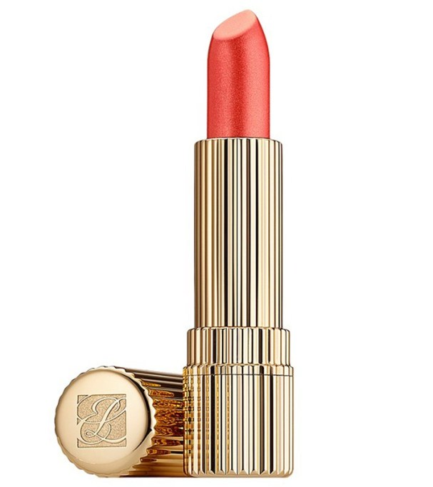 Insanely Pretty Orange Lipsticks to Try Today: Estée Lauder All Day Lipstick in Frosted Apricot |Summer Makeup Trends 2017