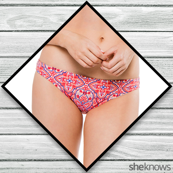 Red, white and blue bathing suit bottom