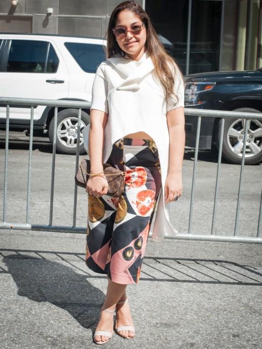 Fashion week street style white shirt
