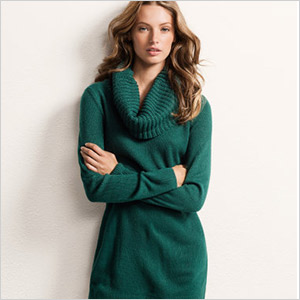 h and m green sweater