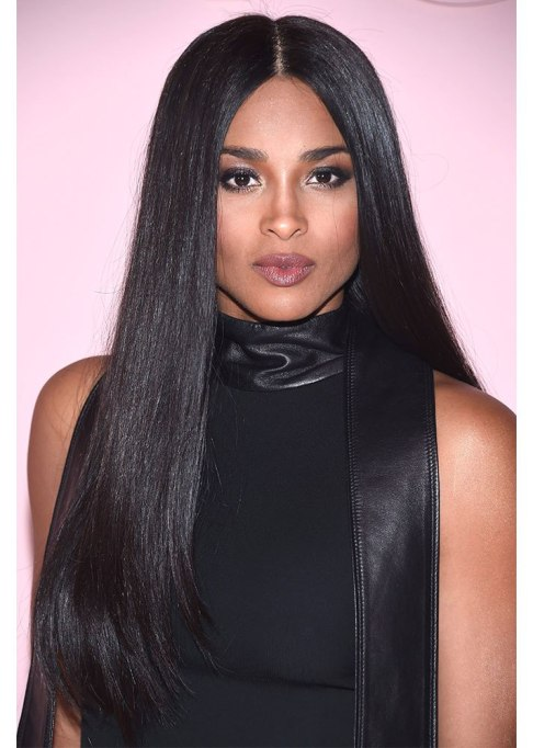 Ciara Middle Part Hairstyle