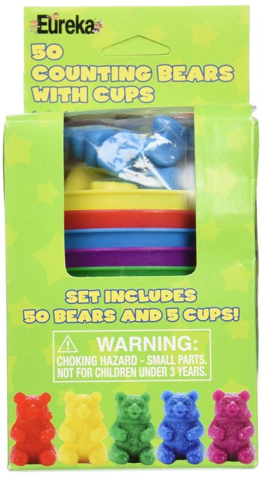 Gifts for kids with autism: 50 Counting bears with cups