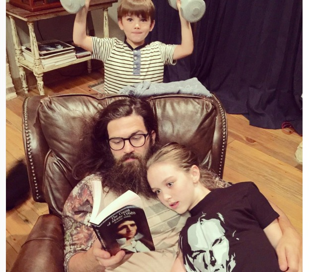 Jep Robertson with his kids