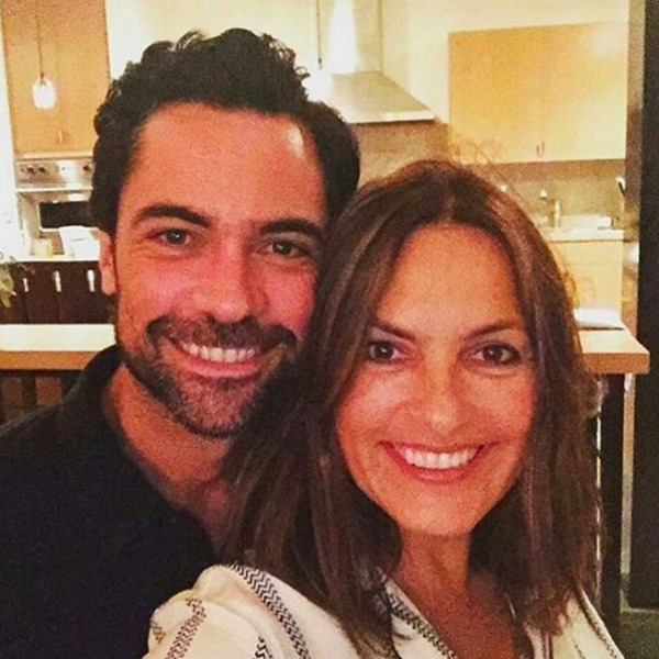 Danny Pino and Mariska Hargitay selfie