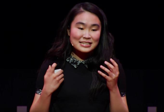 Amber Yang giving TED Talk