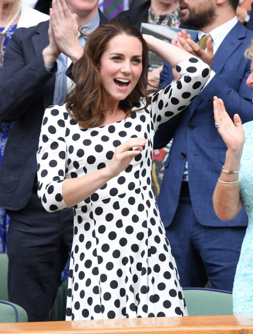 Check out these celebrities at the 2017 Wimbledon tournament: Kate Middleton