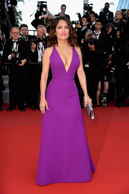Ultra Violet On The Red Carpet | Salma Hayek