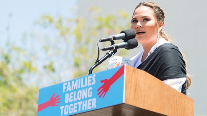 Chrissy Teigen at March for Families